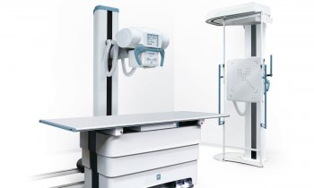 Villa Sistemi Medicali – Moviplan iC with floor-mounted column