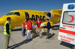 Repatriation of a patient by air ambulance