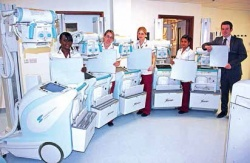 The Queen Alexandra Neonatal Care Unit team and new digital X-ray systems