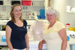 QEHB Nutrition Nurse Team Leader Jane Fletcher (left) and Nightingale Trust...