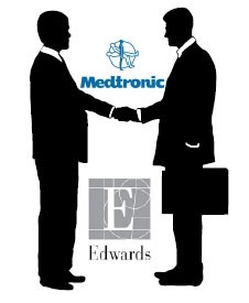 Photo: Agreement between Edwards Lifesciences and Medtronic