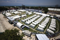Field hospital construction (e.g. Haiti 2010) consumes precious time...