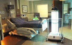 Tru-D disinfects a patient room at Lima Memorial Hospital.