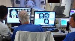 Researchers at the University of Maryland use focused ultrasound to treat...