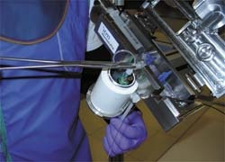 The new Wolfram applicator is said to significantly reduce radiation exposure...