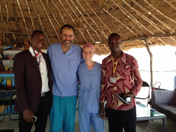 Shown is the leadership team at an Ebola treatment unit (ETU) in Port Loko,...
