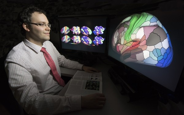 Matthew Glasser, PhD, was part of a team that mapped the human cerebral cortex...