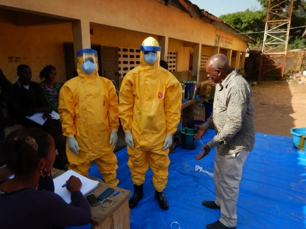 Macenta burial team during Ebola outbreak
