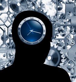 The results show that the internal clock in patients suffering from...