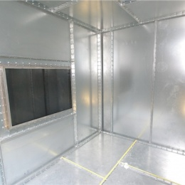 The Intercabin is made from galvanised steel sheet and/or aluminium and...