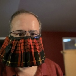 Is it a mask? Is it a kilt? Who knows - as long as it gets the job done!