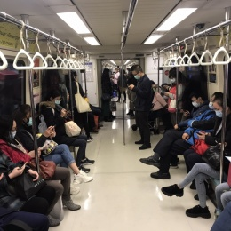 Riding the train in Taipei: Due to the general mindfulness in the population,...