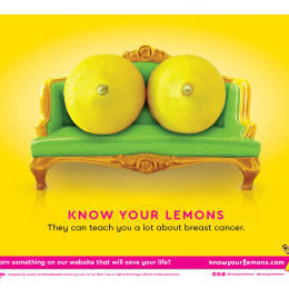 Photo: Breast cancer awareness – with a twist of lemon