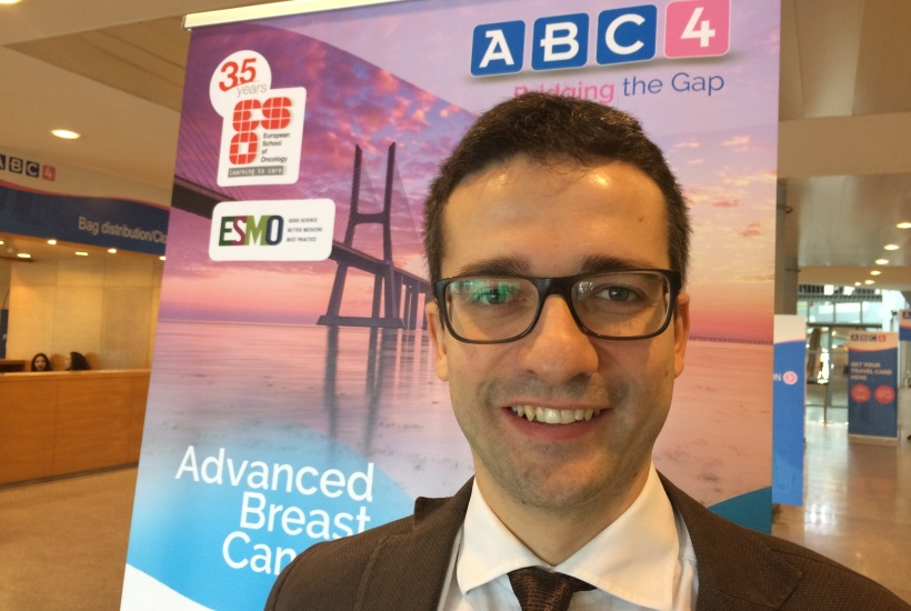Dr Matteo Lambertini at the Advanced Breast Cancer Fourth International...