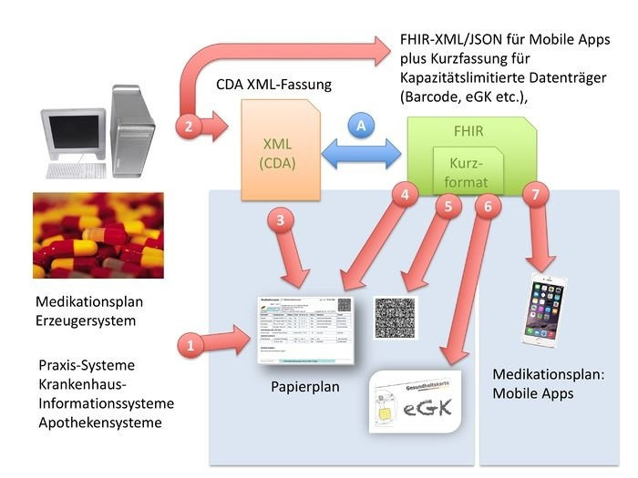 Overview of the formats used: Systems with a medication plan for patients can,...
