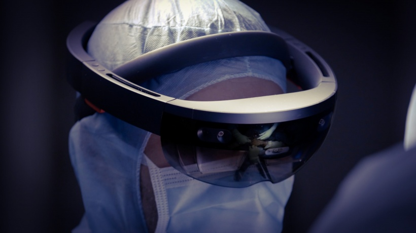 The HoloLens holographic computer from Microsoft was used during surgery.