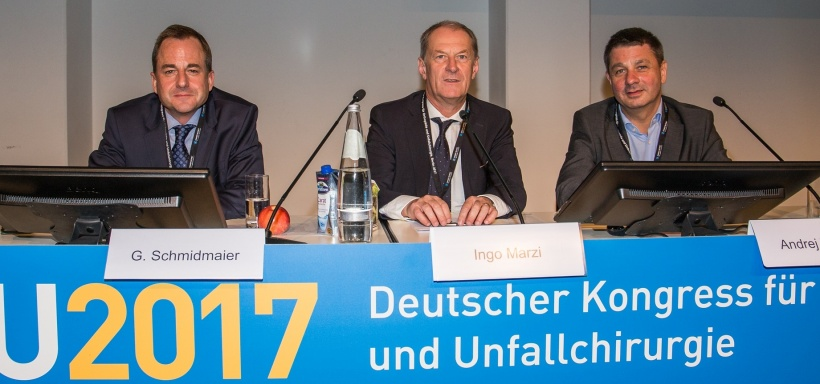 Professor Marzi (middle) at the German Congress for Orthopaedics and Trauma...