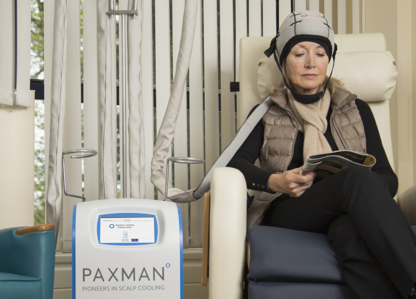 Paxman Scalp Cooler in use