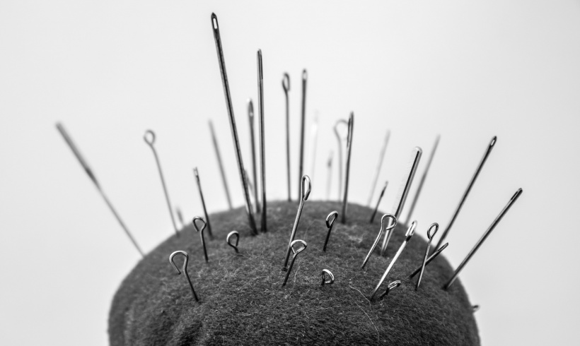 pincushion with needles