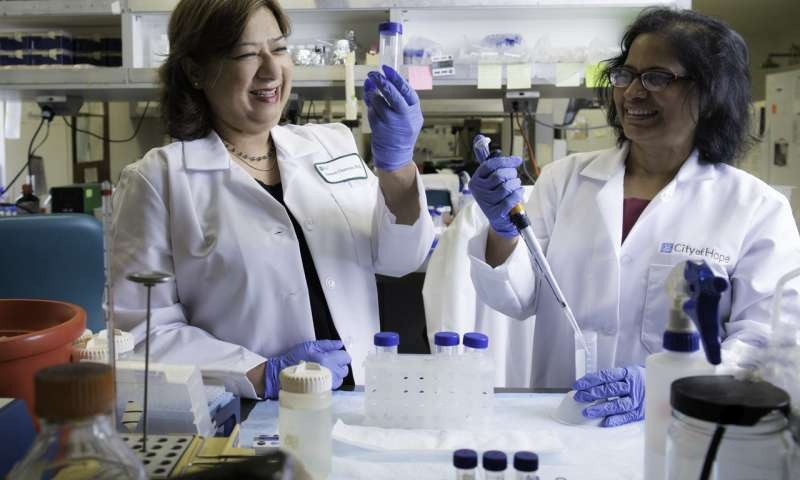 City of Hopes Saswati Chatterjee (left), Ph.D., discovered a gene-editing...