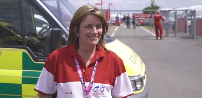 Dr Heike Romer, Chief Medical Officer for the British Superbike Championship