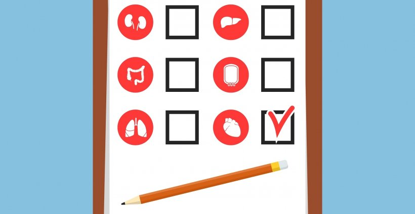 Set of Internal human organs icons representing organs and the tools necessary...
