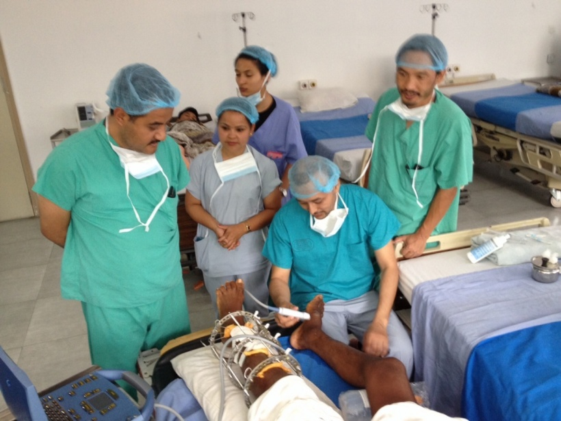 Medical staff from many countries worked together in the Nepal aid programme.