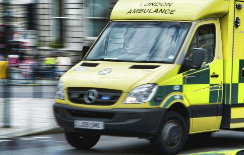 Motion blur picture of a London Ambulance Service front line vehicle