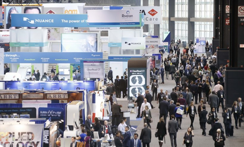 The tech exhibit floor at RSNA 2018
