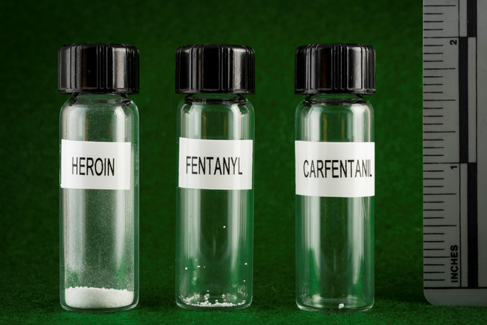 Amount of a Lethal Dose of Heroin Vs. Fentanyl Vs. Carfentanyl