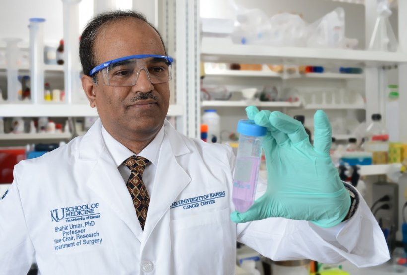 Shahid Umar, PhD, researcher with The University of Kansas Cancer Center.