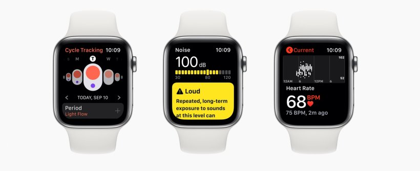 apple watch smartwatches displaying various health apps