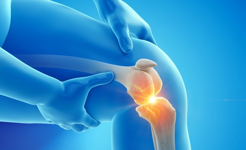 3d rendered illustration of painful knee joint