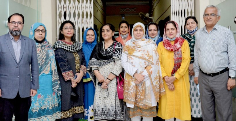 The team at Sindh Medical College pathology department