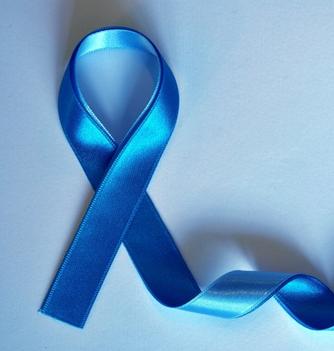 blue ribbon as a symbol for prostate cancer awareness