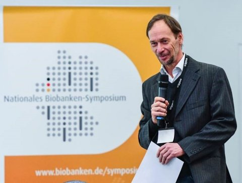 michael hummel at a biobank symposium in berlin