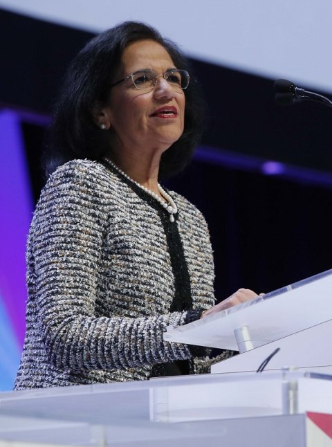 Professor Vijay M Rao MD during her president's address at RSNA 2018