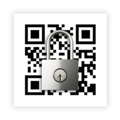 qr code with padlock on top