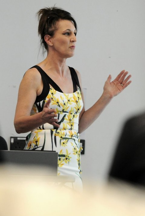 natalie kennerley speaking at a conference