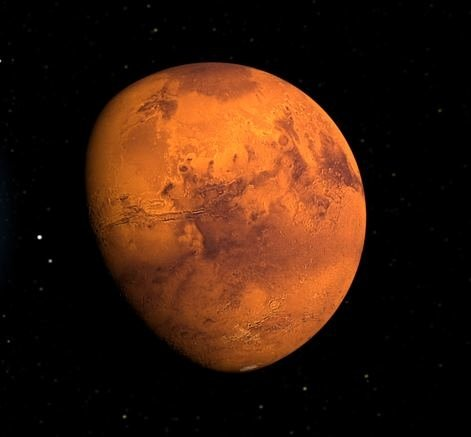 planet mars seen from space