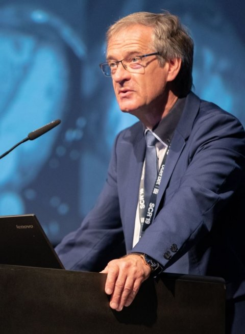 Dr Karl-Friedrich Kreitner speaking at scr 2019 congress