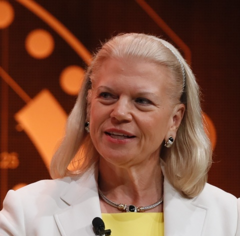 Portrait photo of Ginny Rometty at HIMSS