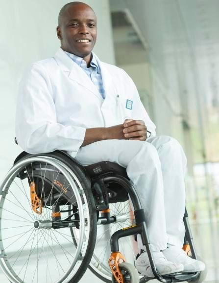 thomas kapapa in wheelchair