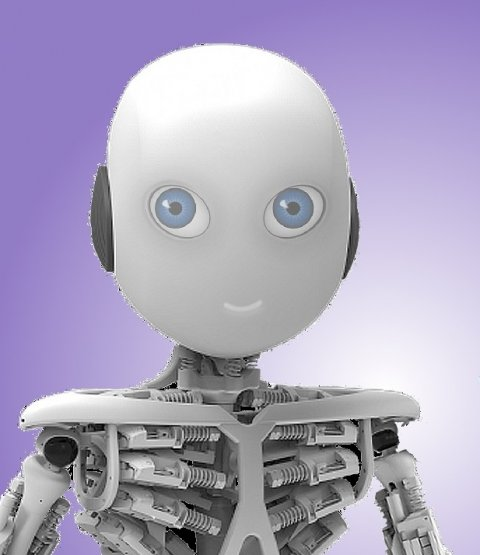 robot with humanoid friendly features